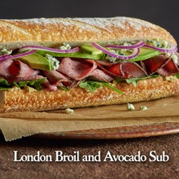 London Broil and Avocado Sub